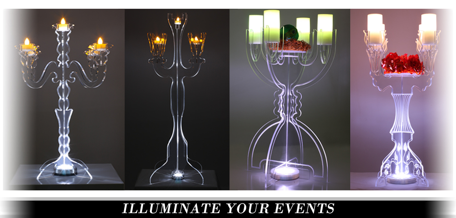 Illuminate Tabletop Candelabras
