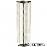 Crystal Column - Adjustable Height - Onyx Bronze w/ Clear Crystals