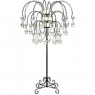 Large Willow Tree Candelabra w/ 24 lanterns - Onyx Bronze