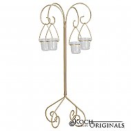 30'' Tall Tabletop Candelabra - Willow Style - Gold Leaf