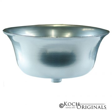 Prestige Series Flower Bowl - Frosted Silver