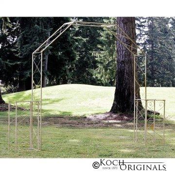 Convertible Wedding Arch w/ Two Columns - 96'' H - Gold Leaf