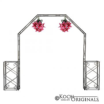 Convertible Wedding Arch w/ Two Columns - 96'' H - Onyx Bronze
